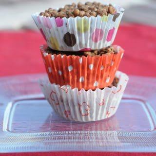 Chocolate Peanut Butter Rice Crispy Cups