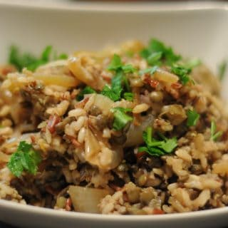 Mujadara—Middle Eastern Rice Pilaf