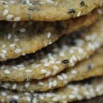 Salted Sesame Cookies with Dark Chocolate Chips