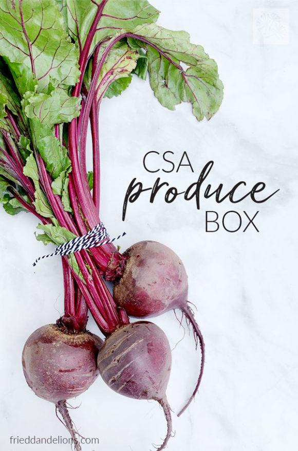 beets from a CSA produce box