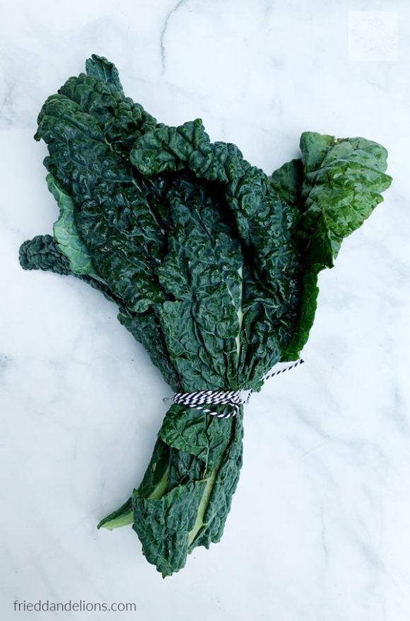 kale from CSA produce box