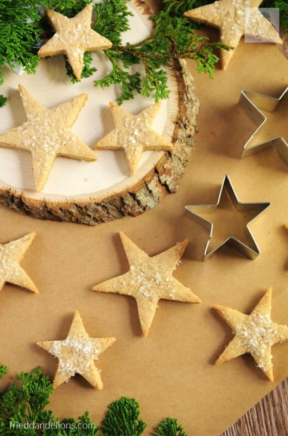 overhead of star shaped homemade graham crackers, My Favorite Vegan Cookies