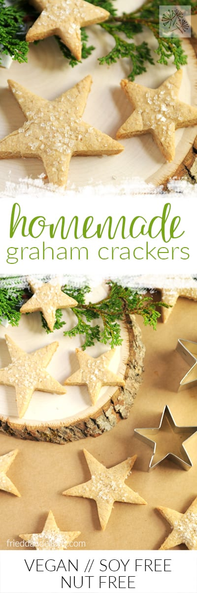 fried dandelions // homemade graham crackers