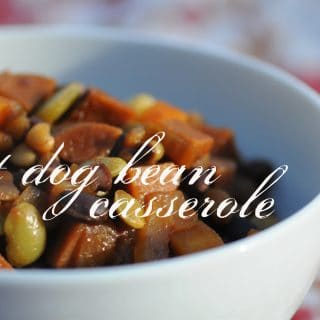 Hot Dog Bean Casserole