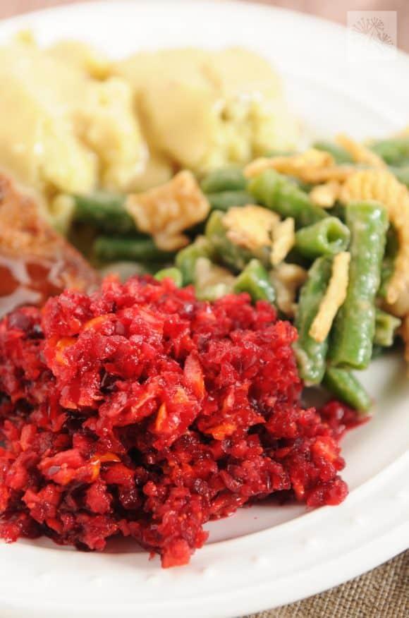 fried dandelions // cranberry orange relish