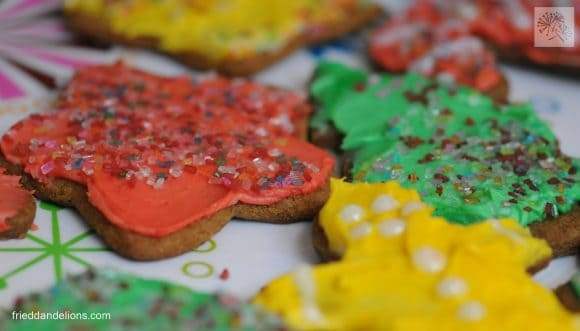 Sugar and Spice Cookies decorated by child