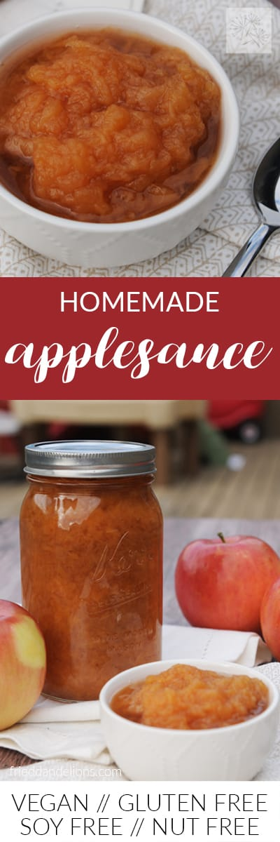 fried dandelions // homemade applesauce