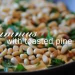 My new favorite way to garnish hummus!