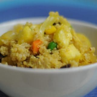 Pineapple Curry Fried Quinoa