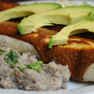 Sweetheart Enchiladas with Mole Sauce