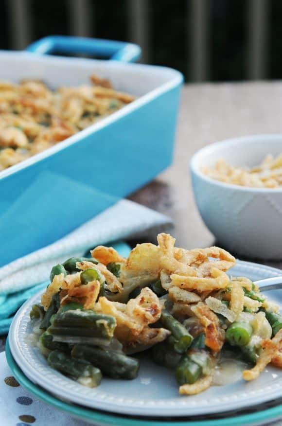 fried dandelions // green bean casserole