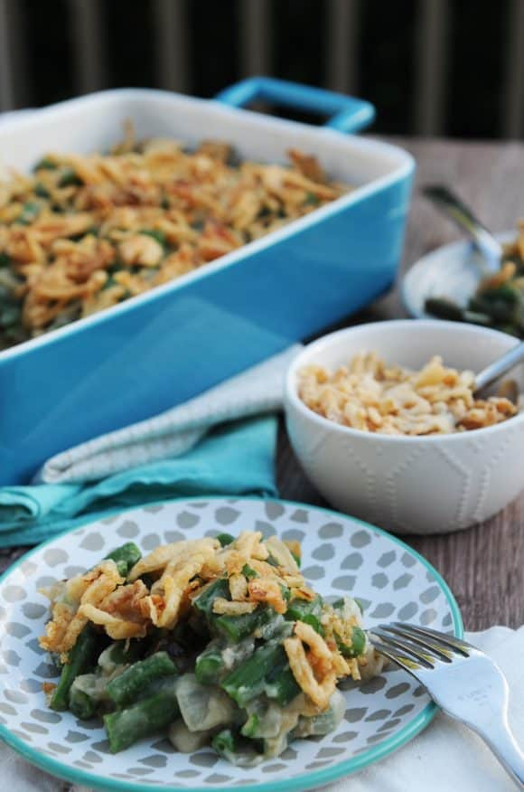 fried dandelions // green bean casserole