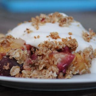Stone Fruit Ginger Crisp