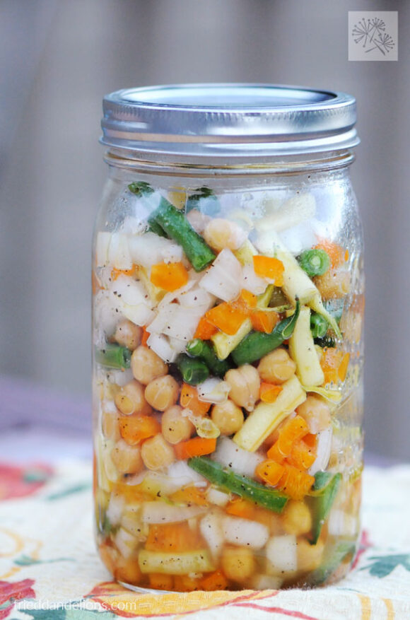 large jar of three bean salad