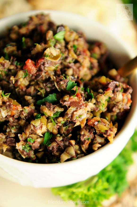 close up view of Olive Tapenade