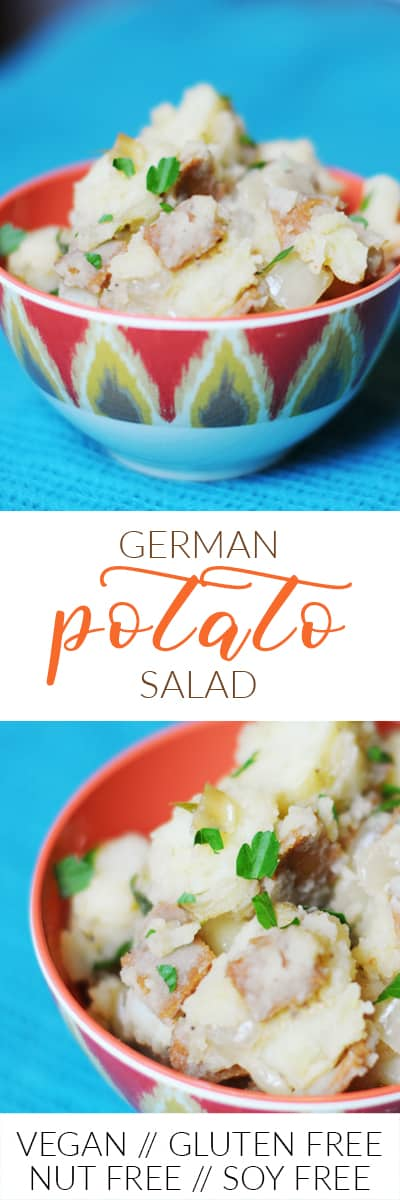 fried dandelions // german potato salad
