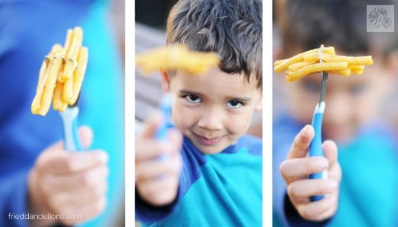 triptych of images featuring Vegan Boxed Mac and Cheese with young boy in blue shirt