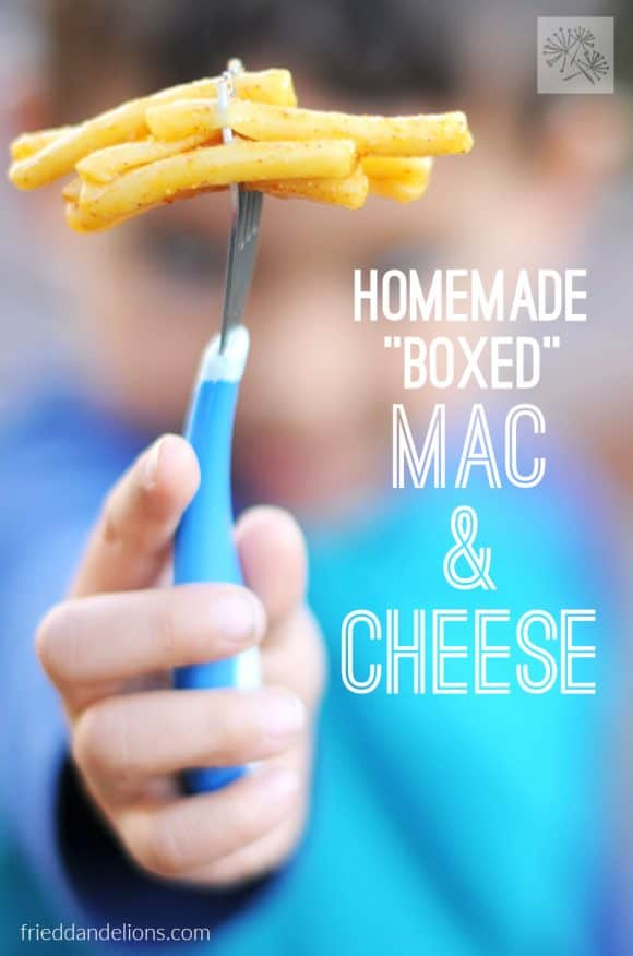 """This Homemade """"Boxed"""" Macaroni and Cheese comes together in the same amount of time as the store bought version!"""
