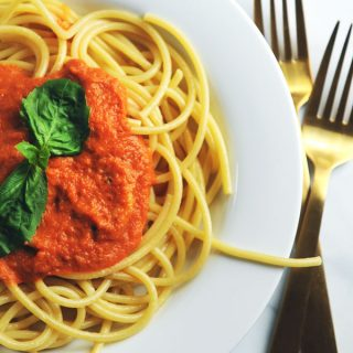 Pasta with Vegan Vodka Sauce — Nut Free!