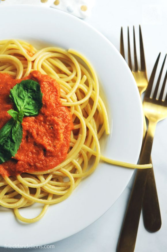 pasta with vodka sauce - vegan recipes that are PINK