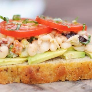 White Bean Salad Sandwich