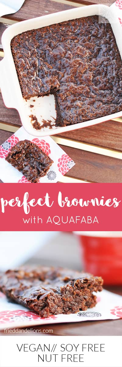 Perfect Vegan Brownies with AQUAFABA! Fudgey, dense, sweet, chocolatey—and a perfect crackle top! (vegan, soy free, nut free)