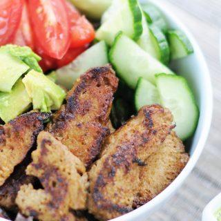 Seitan Steak Salad