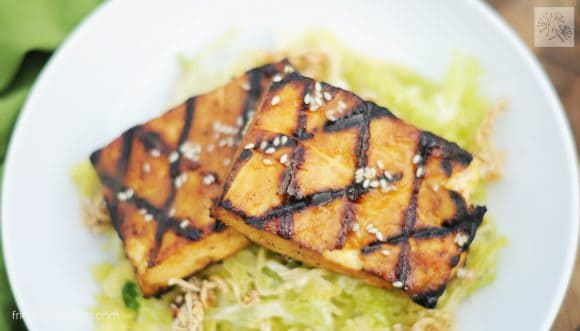 fried dandelions // din tai fung tofu
