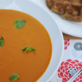 Oven Roasted Tomato Basil Soup