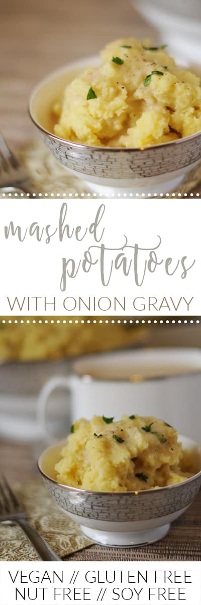 fried dandelions // mashed potatoes with onion gravy