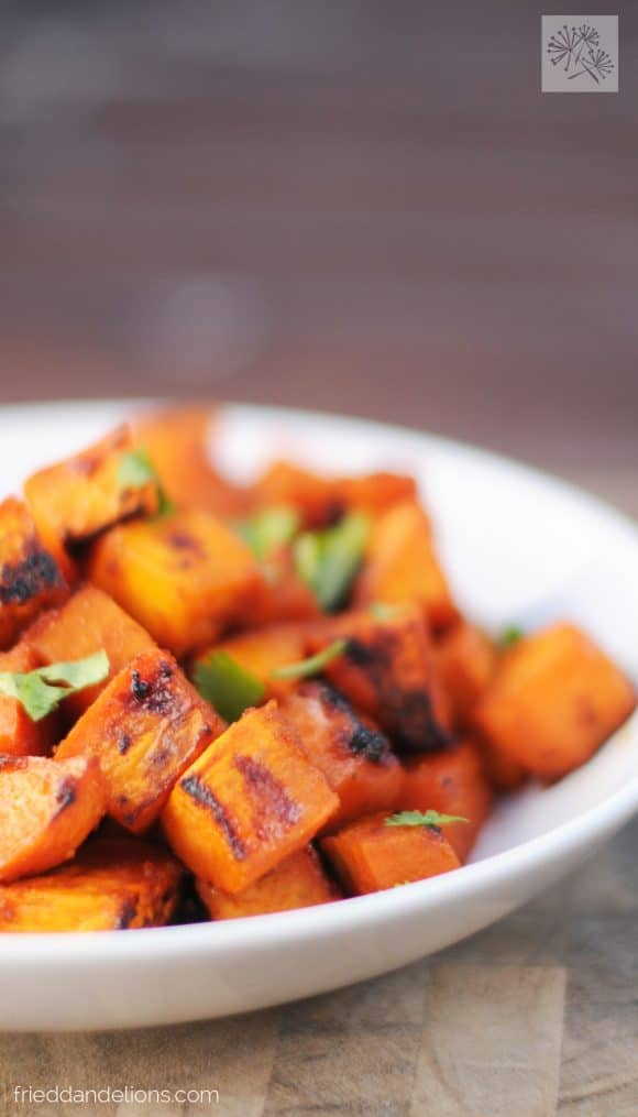 My Favorite Vegan Holiday Recipes — Maple Lime Roasted Sweet Potatoes