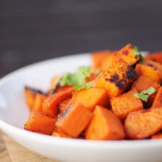 Maple Lime Roasted Sweet Potatoes