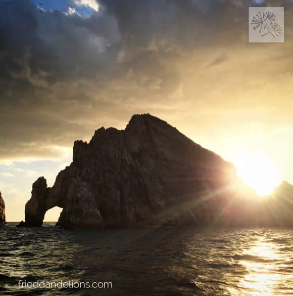 The Arch of Cabo San Lucas at sunset