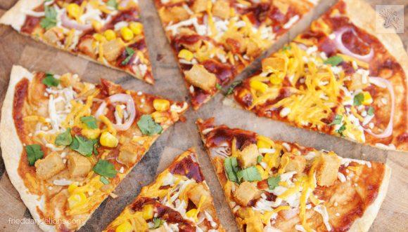 bbq chik'n Cast iron skillet Tortilla Pizza