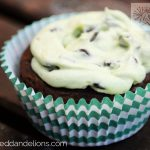 Peppermint Patty Brownie Cupcakes