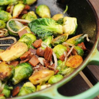 Baconish—Brussels Sprouts with Bacon and Shallots, a review and a giveaway!