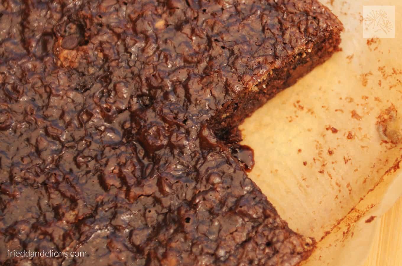 fried dandelions // perfect gluten free brownies