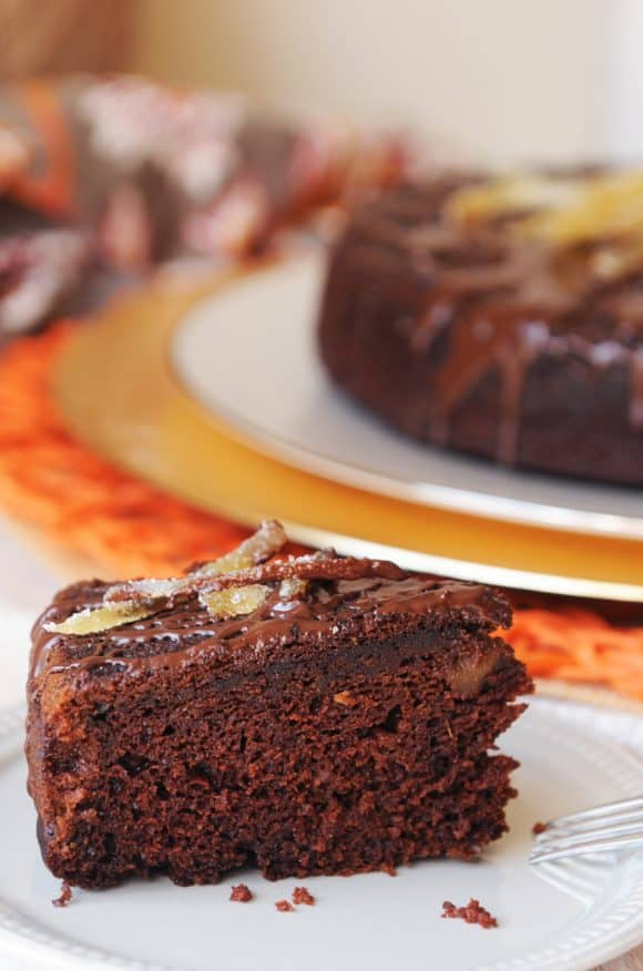 My Favorite Vegan Holiday Recipes — Pumpkin Chocolate Cake with Ginger
