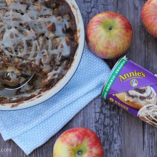 Cinnamon Roll Bread Pudding with Apples