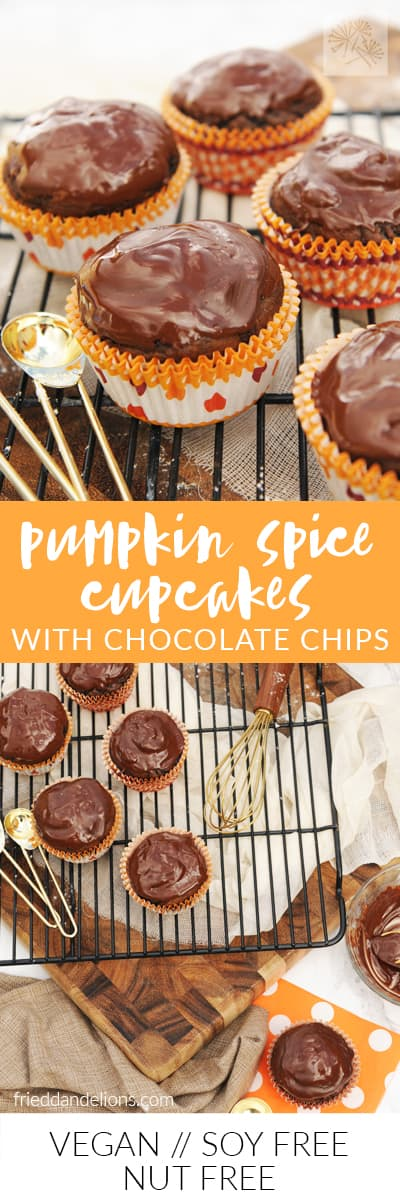 fried dandelions // pumpkin spice cupcakes