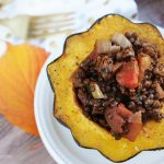 Stuffed Squash with Curried Lentils
