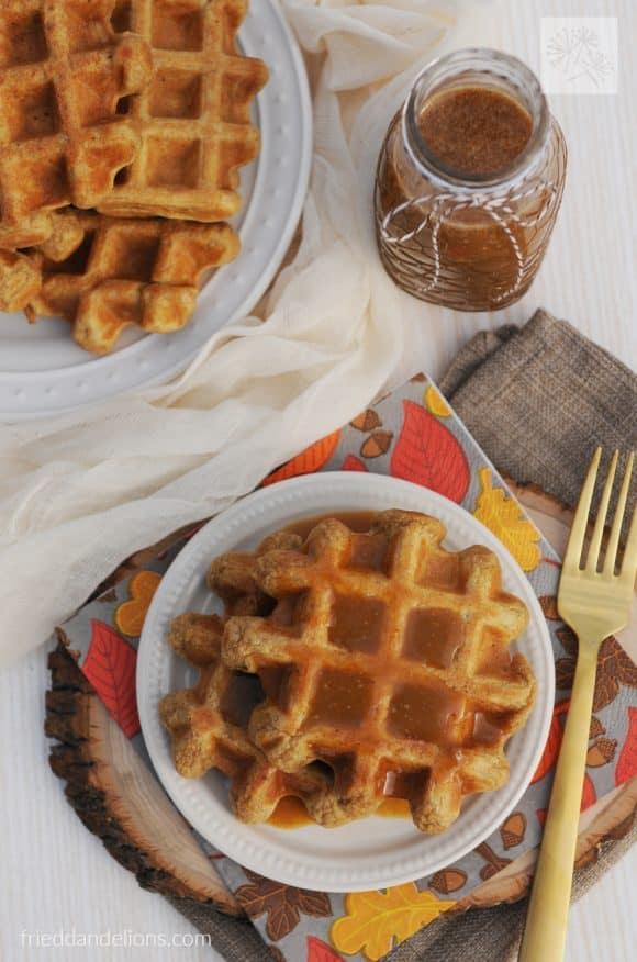 fried dandelions // pumpkin spice waffles