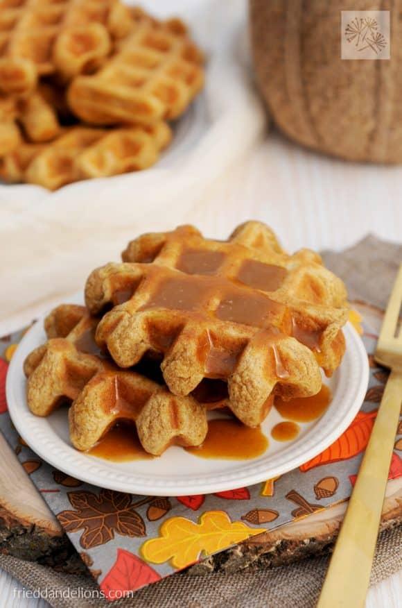 My Favorite Vegan Holiday Recipes — Pumpkin Spice Waffles