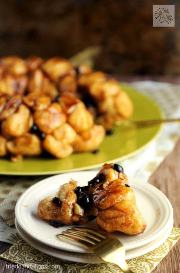 fried dandelions // vegan monkey bread