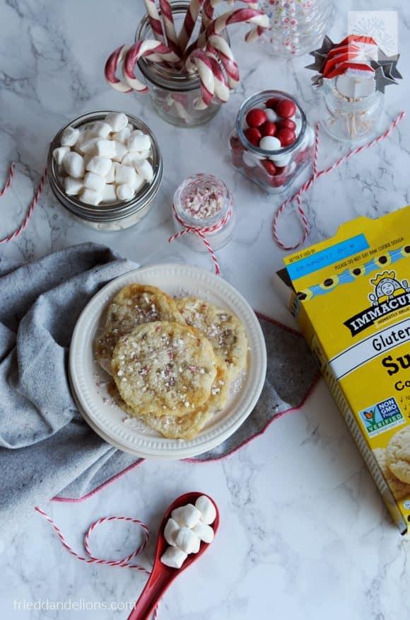 fried dandelions // peppermint marshmallow sugar cookies