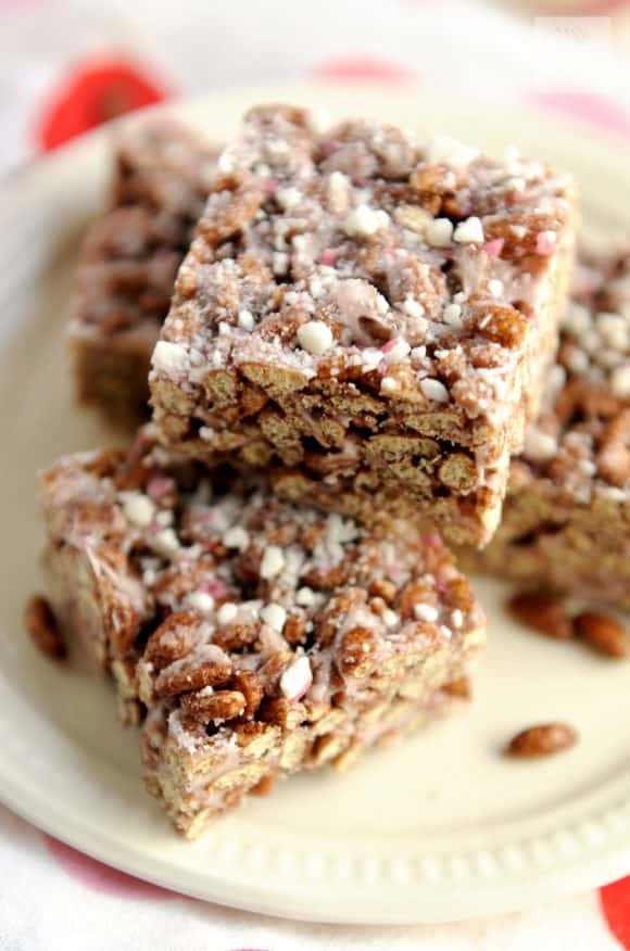 chocolate peppermint vegan rice crispy treats - vegan recipes that are PINK