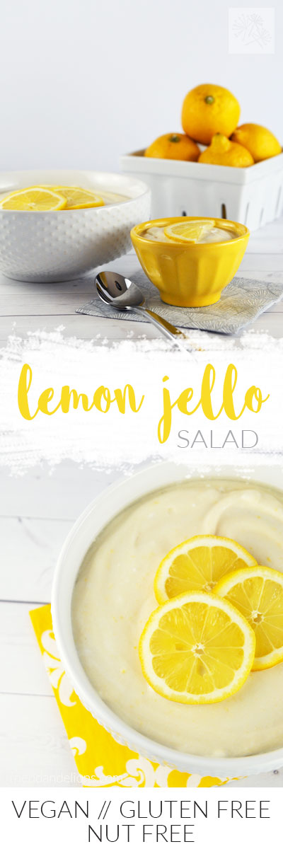 Lemon Jello Salad is my vegan spin on the all American classic side dish! (vegan, gluten free, nut free)