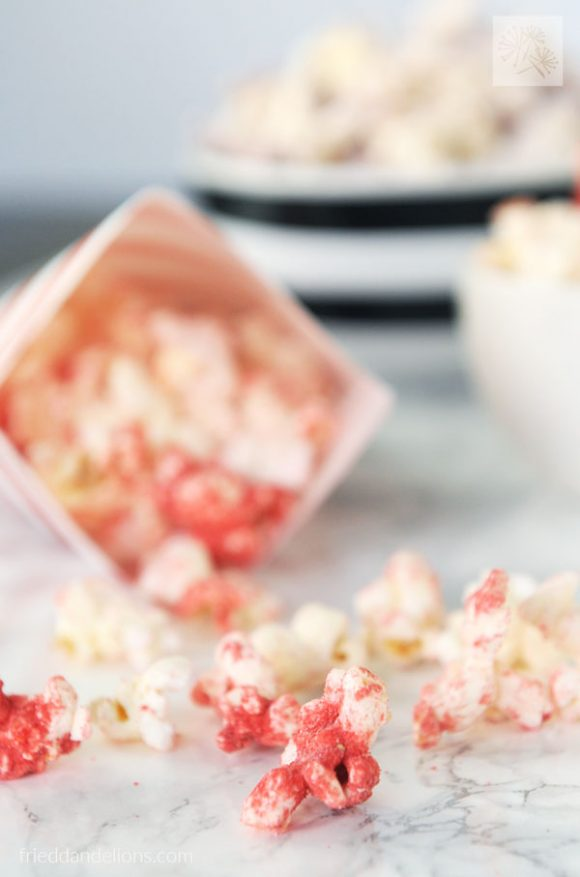 rainbow popcorn - vegan recipes that are PINK
