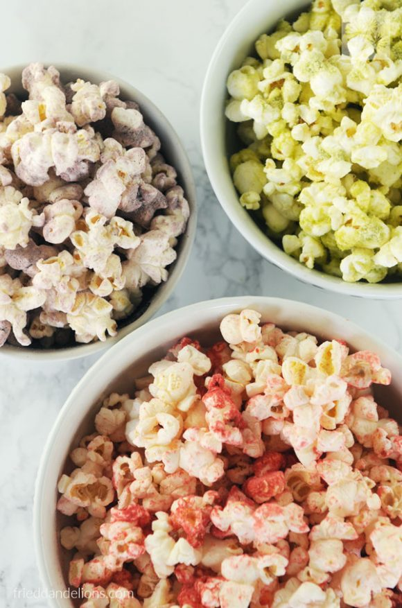 This gorgeous Rainbow Popcorn is sure to be a hit with the kiddos in your life....both young and old! (vegan, soy free, gluten free, nut free)