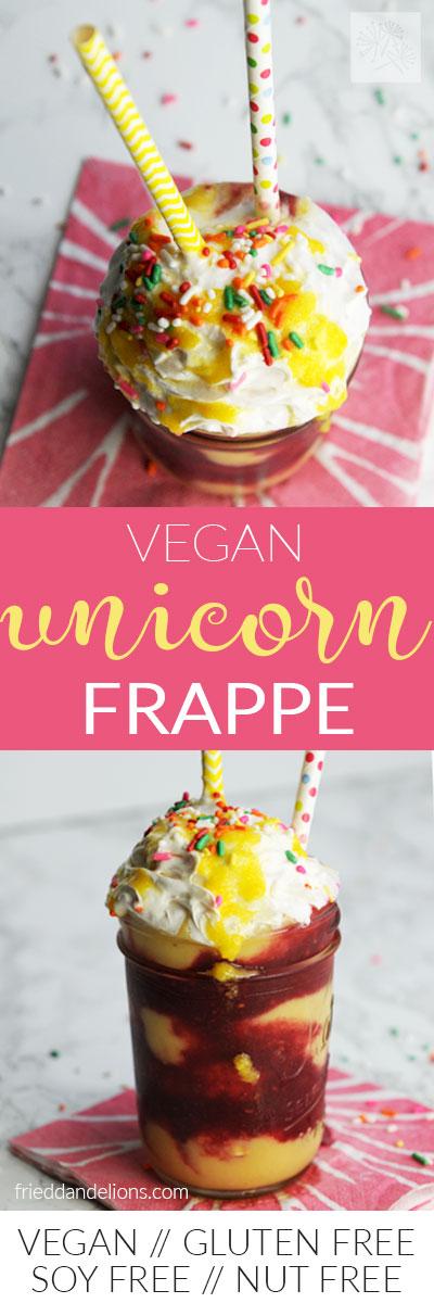 vegan unicorn frappe longpin